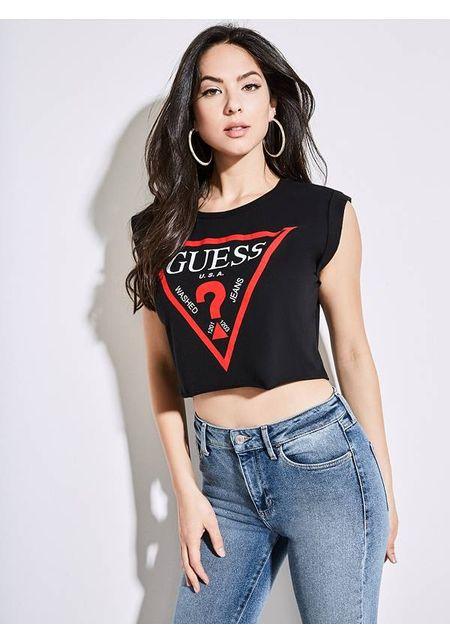 Bella Guess Camiseta Para Rn Mujer Ls U6xa68