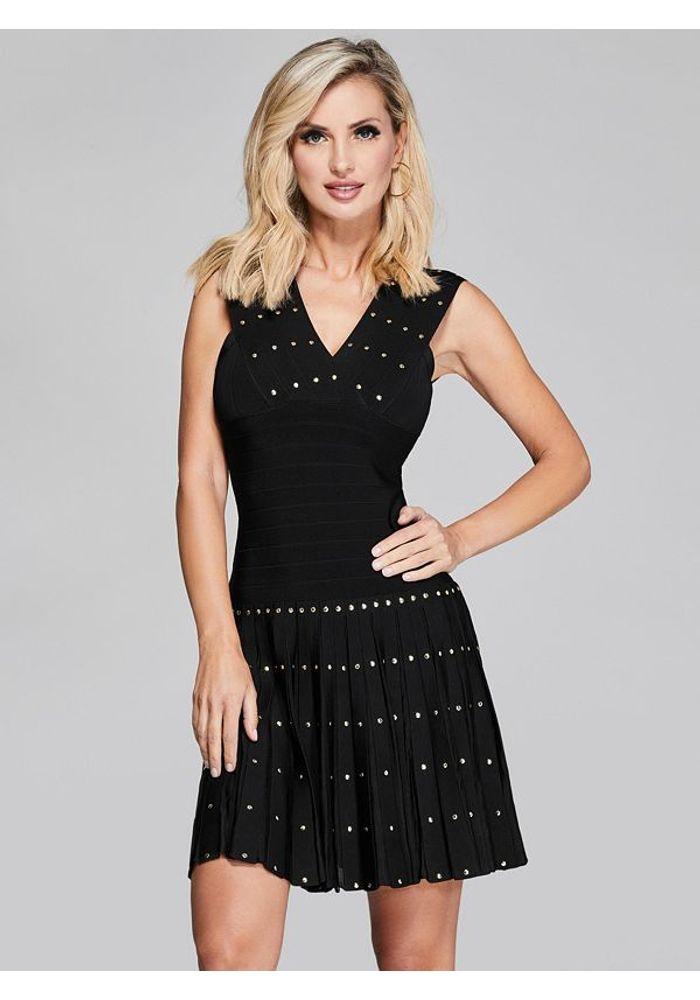 Vestido Guess Dont Speak Bandage Dress Jblk Negro